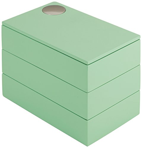 Umbra Spindle - Caja joyero, color verde