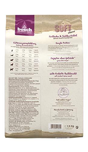 Bosch HPC Soft Mini Perlhuhn & Süßkartoffel | halbfeuchtes Hundefutter für ausgewachsene Hunde Kleiner Rassen | Single-Protein | Grain-Free