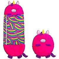Happy Nappers Einhorn pink Medium | Spielen - kuscheln - schlafen | Flauschiger Kinderschlafsack | 4 Verschiedene Motive…
