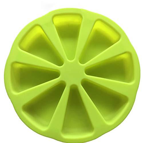 Flyes Moule en silicone Bakeware DIY outils de cake en silicone Moule à gâteau de 8 trous, Silicone, Green, 27 * 5CM