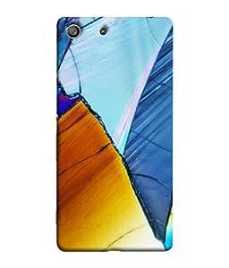 PrintVisa Designer Back Case Cover for Sony Xperia M5 Dual :: Sony Xperia M5 E5633 E5643 E5663 (Blue cool golden rainbow colours)