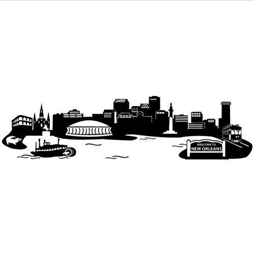 Wandaufkleber Wohnzimmer Orleans Skyline Wandtattoo Die Wunderbare Stadt Von New Orleans Living Room Sofa Background (Von Orleans New Skyline)