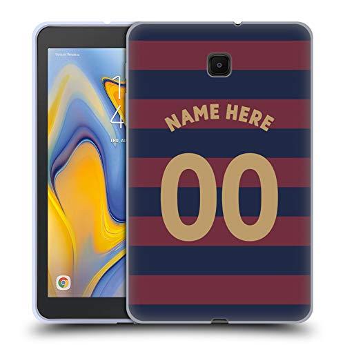 Head Case Designs Personalisierte Individuelle Newcastle United FC NUFC Away Kit 2018/19 Crest Soft Gel Huelle kompatibel mit Galaxy Tab A 8.0 (2018) -