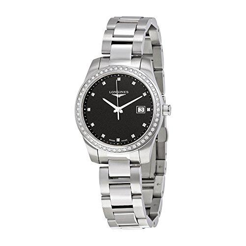 Longines da donna, 36mm con cinturino e cassa in acciaio anti Reflective zaffiro orologio al quarzo, L34010576
