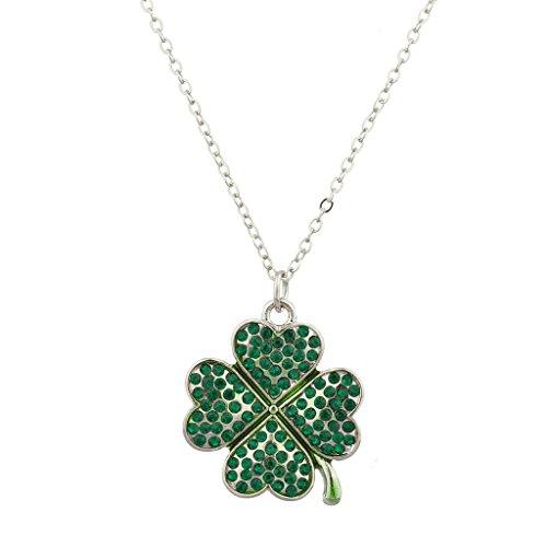LUX Zubehör Pavé St. Patricks Day Four Leaf Clover Shamrock Charm (Patricks Zubehör St Day)