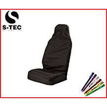 DODGE AVENGER- S-tech BLACK Single Seat Cover Heavy Duty Durable Water Resistant / FREE S-TECH PEN
