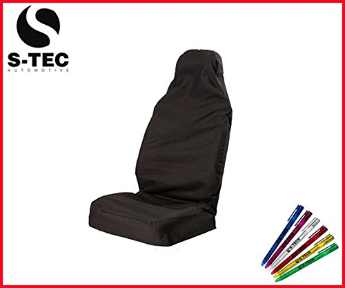 cadillac-sts-s-tech-durable-black-single-seat-cover-heavy-duty-water-resistant-free-s-tech-pen