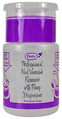 Pretty Professional Nail Varnish Remover with Pump Dispenser 70ml (Acetone Free) - Spill Proof Bottle