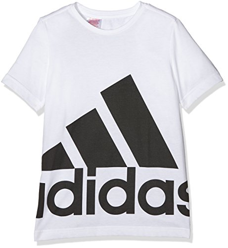adidas Bambino Essentials Logo T-Shirt, Multicolore (bianco