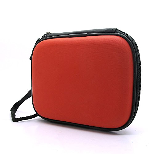 "co2UK(TM) Rosso EVA antiurto Pad viaggio di trasporto della pelle Bag Box Cover protettiva Caso Per 2.5"" inch WD Western Digital My Passport Ultra Elements/ Samsung M3 Slimline/Toshiba Canvio Basics/Seagate Backup Plus Slim Hard disk esterni portatili 1TB"