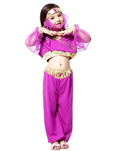 Inception Pro Infinite Taglia XL - 7 - 8 Anni - Costume - Travestimento - Carnevale - Halloween - Odalisca - Araba - Danzatrice del Ventre - Colore Viola - Bambina