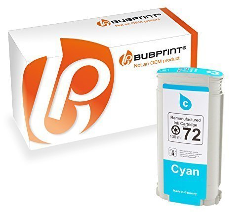 Bubprint Druckerpatrone kompatibel für HP 72 C9371A für DesignJet T1100 Series T1200 T1300 T1300PS T2300 eMFP T610 24 Inch T620 T770 T790 T795 Cyan (Dye Hp Cyan)