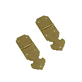 RZDEAL 85MM Brass Hinges Arrow Shaped Antique Vintage Style for Jewelry Box Toolbox, A Pair, Gold