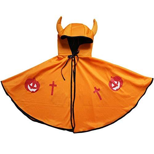 GLXQIJ Unisex Kids Cape Umhang Mit Kapuze Für Devil Demon Hexe Halloween Weihnachten Cosplay - Demon Baby Kostüm