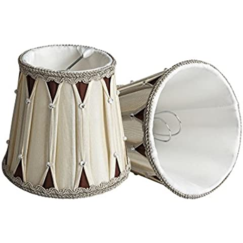 Splink 2 Pezzi SHABBY Chic TAMBURO SOFFITTO LUCE CIONDOLO sfumature NUOVO Organza Lampada Da Tavolo (Rotonda Drum Table)