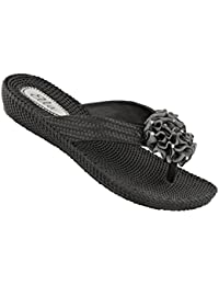 52edd5fab Ella Womens Danni Low Wedge Toe Post Flip Flop Sandals in a Choice of  Colours