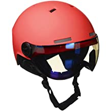 Black Crevice Skihelm - Casco de esquí, color Rojo/Blanco (Red/White), talla M/L (58-61 cm)