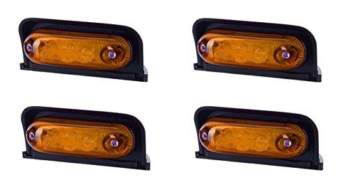 4x 3SMD LED arancione ambra angolo del tetto luce di indicatore laterale 12V 24V e-contrassegnato universale