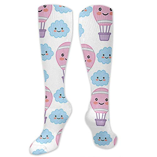 Knee High Socks Kawaii Cartoon Concept Knee High Compression Stockings Athletic Socks Personalized Gift Socks for Men Women Teens Girls