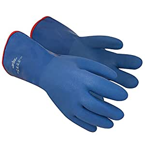 Polyco Vyflex Boa 35 cm Large Flexible PVC Water and Chemical Resistant Gauntlet with Thermal Liner