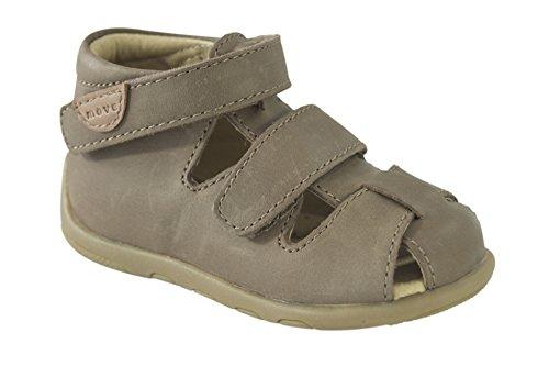 MOVE Geschlossene Sandale Lauflerner Jungen, Chaussures Marche Bébé Garçon Beige (Medium brown)