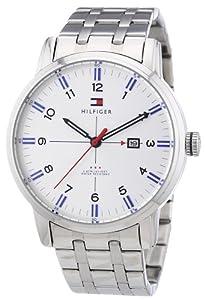 Reloj Tommy Hilfiger 1710327 de cuarzo para hombre con correa de acero inoxidable, color plateado de Tommy Hilfiger