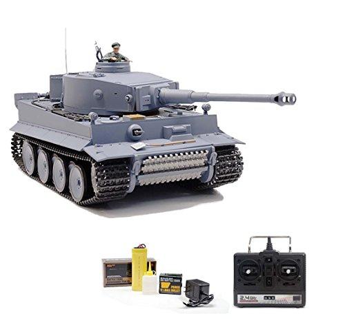German Tiger I 2.fourGHz Version, RC, 1/16 Tank, Distant-Managed, Shot, Sound Smoke Set RTR
