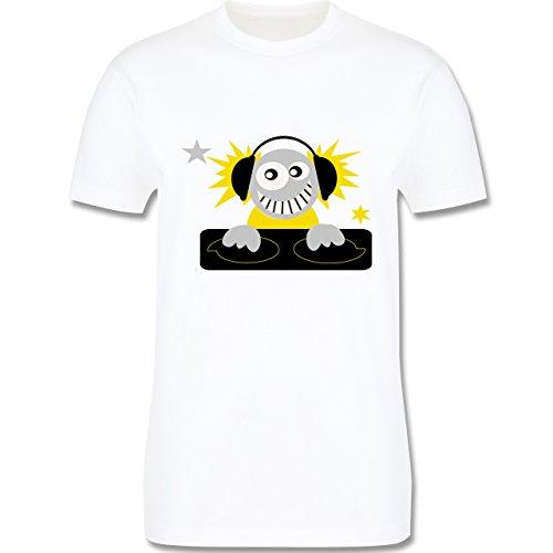 Typisch Männer - Discjockey - Herren Premium T-Shirt Weiß