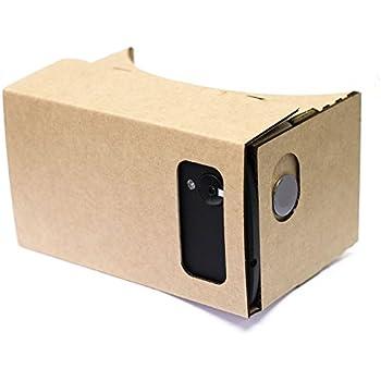 Google Cardboard JECO Kit de montage carton casque lunette Réalité virtuelle 3D Cardboard Glasses Smartphones pour les Téléphones Intelligents de 4,4 à 5,5 pouces