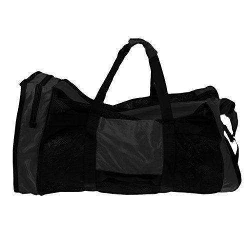 MagiDeal Tauchtasche Mesh Duffle Bag, Netztasche, Wassersport - Schwarz