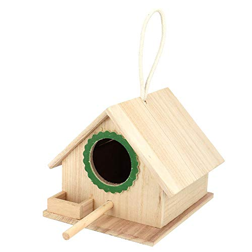 Casa del pájaro, Nido de pájaros Duradero de Madera para pájaros descansando, Caja de alimentación...