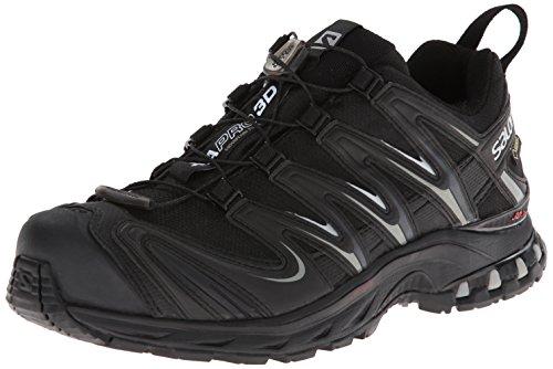 Salomon Xa Pro 3D Gtx - Zapatos para hombre, Black/Black/Pewter, 45 1/