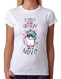 MardeTé Camiseta para la Novia. Yo si Soy RARA, Soy la Novia. Camiseta Despedida de Soltera de Regalo de Amigas.