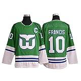 Yajun Liut?1/ Ron Francis?10 /Dineen ?11 Hartford Whalers Eishockey Trikots Jersey NHL Herren Sweatshirts Atmungsaktiv T-Shirt Bekleidung -