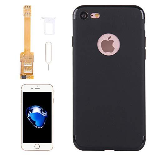 ual-SIM-Karten-Adapter + TPU-Case mit SIM-Kartenfach/SIM-Karte Pin für iPhone 7& 7 Plus, Dual-Karte Single Standby (für iPhone 7) ()