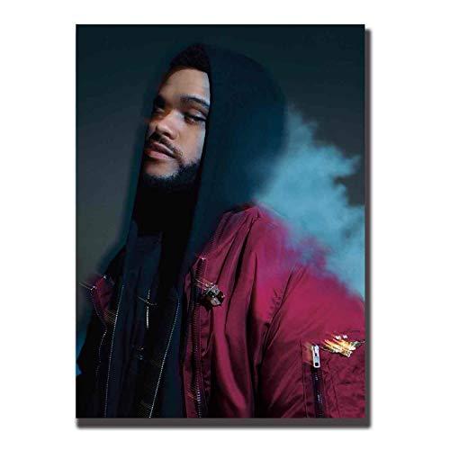 NOVELOVE Quadro su Tela The Weeknd Trilogy Rap Music Star Stampa su Tela Stampa su Tela Senza Cornice 40 * 60cm