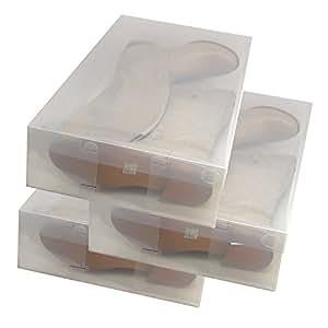 3x dynasun pp436 schuhbox schuhkasten lagerkasten box. Black Bedroom Furniture Sets. Home Design Ideas