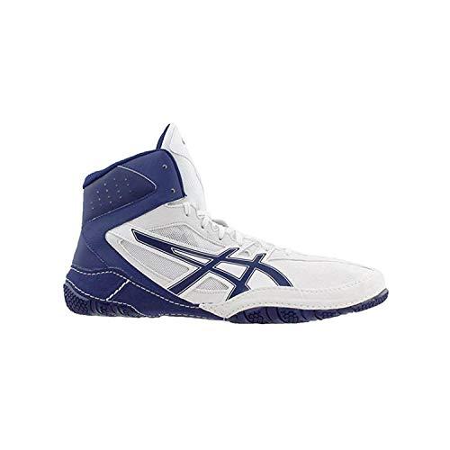 ASICS MATCONTROL Wrestling Shoes, White/Indigo Blue, Size 10.5