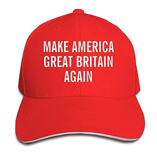 Osmykqe Adjustable Make America Great Britain Again Snapback Sandwich Baseball Cap GH628