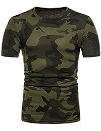 OHQ Camisa De Polo Camiseta Estampada De Manga Corta con Estampado De  Camuflaje Personalizado para Hombre Camiseta De Manga Corta… edbc9f43d4aa3