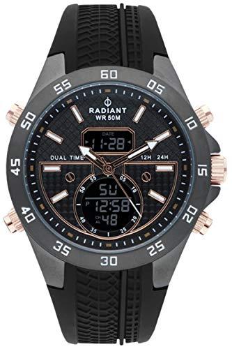 Radiant kibet orologio Uomo Analogico - Digitale al Al quarzo con cinturino in Gomma RA484703