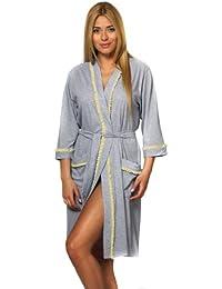 Italian Fashion IF Bata Ligera Vestido de Casa Mujer N39F1