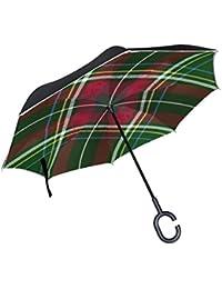 ALAZA La Prueba de Doble Capa Paraguas invertido Coches inversa Paraguas a Prueba de Viento la
