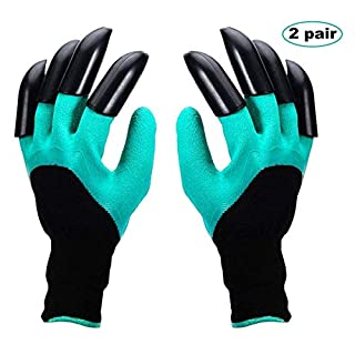 Gardening Gloves, Thorn Resistant Safe Garden Genie Gloves With Claws for Digging & Planting, Best Gift for Gardeners