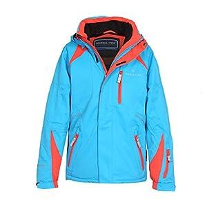 Bergson Kinder Skijacke Michi – wasserdicht, Winddicht, atmungsaktiv, warm, Wassersäule: 12000 mm, Atmungsaktivität: 12000 g/qm/24Std