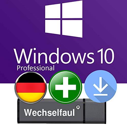 Microsoft Windows 10 Pro - Original Lizenzschlüssel mit 8 GB USB Stick und Anleitung von Wechselfaul - 32 bit und 64 bit -