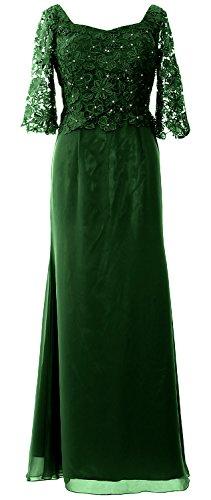 MACloth - Robe - Trapèze - Manches Courtes - Femme vert foncé