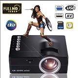 SLB Works Brand New 4000Lumens HD 1080P LED Projector Mini Home Cinema Multimedia USB AV TV VGA HDMI