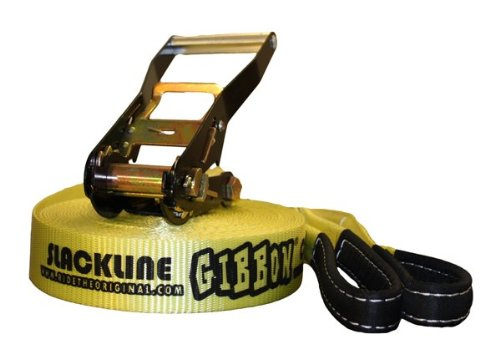 Gibbon Classic Jl 01 Set Slackline 15 M X 5 Cm Jaune