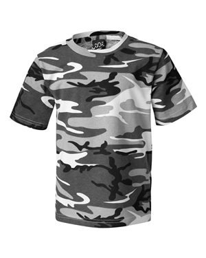 Youth Camouflage T-Shirt URBAN WOODLAND L (Kids T-shirt Woodland Camouflage)